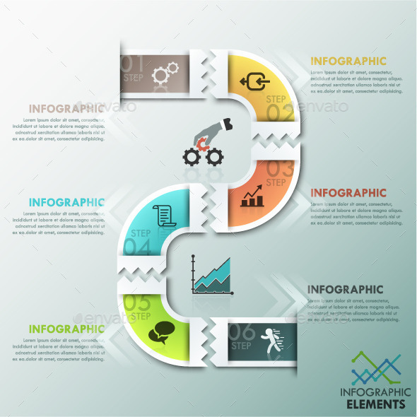 Modern Infographics Paper Template - Infographics