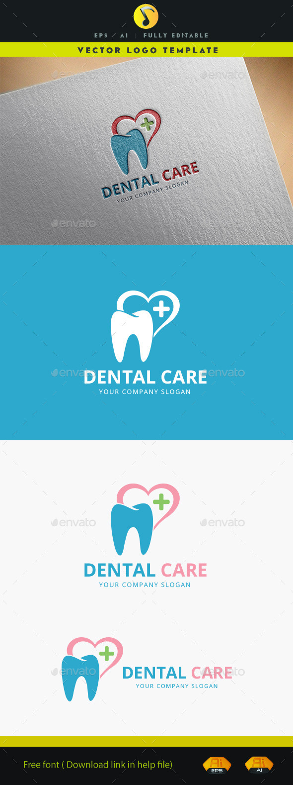 Dental Care - Symbols Logo Templates