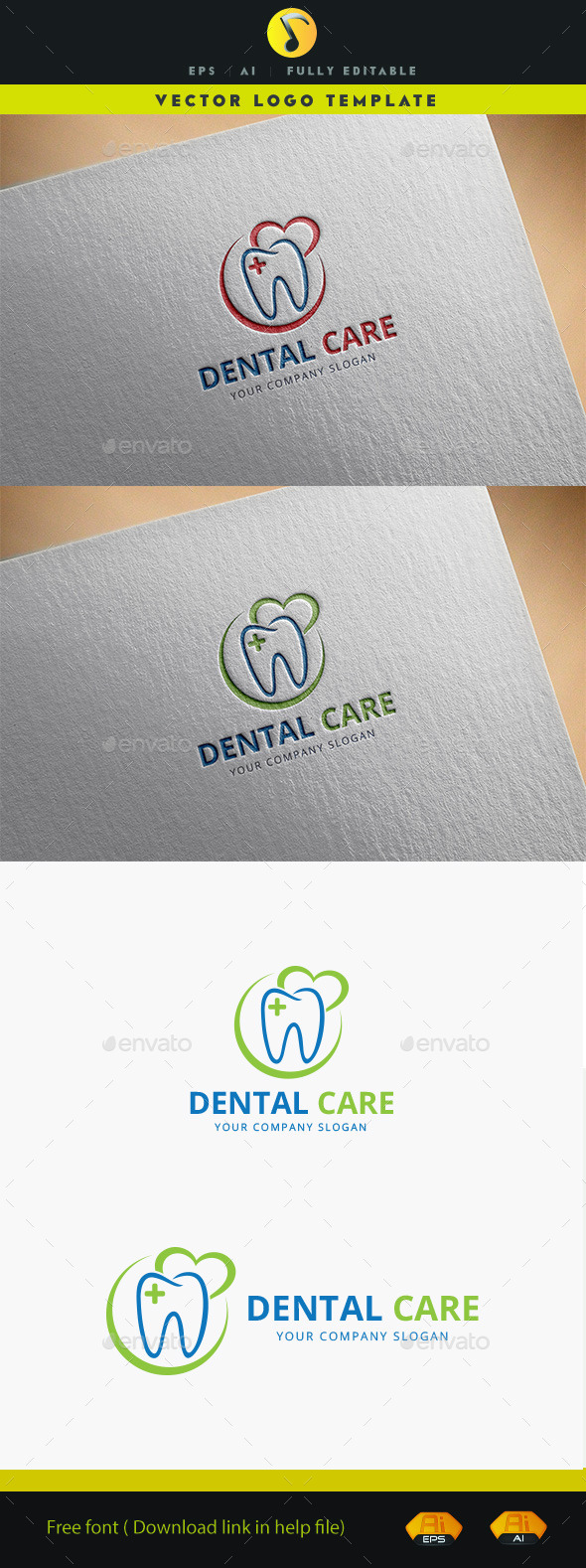 Dental Care Logo - Objects Logo Templates