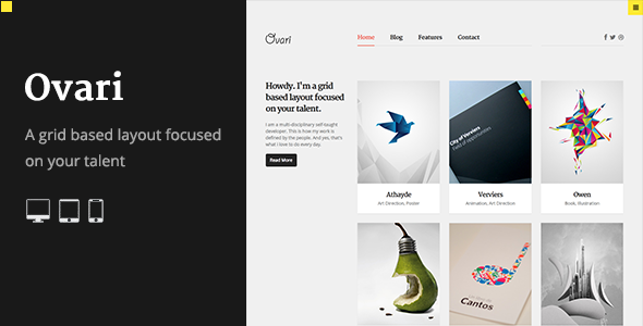 OVARI – Portfolio & Agency WordPress Theme