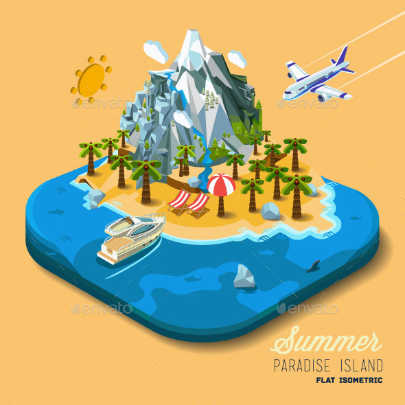 Land to the Sea and the Mountains - Travel Conceptual