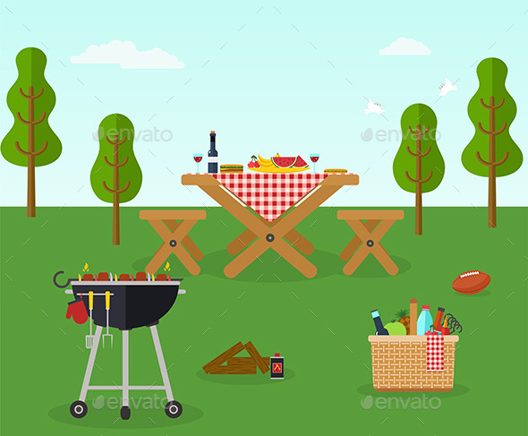 Picnic BBQ Party Outdoor Recreation - Food Objects