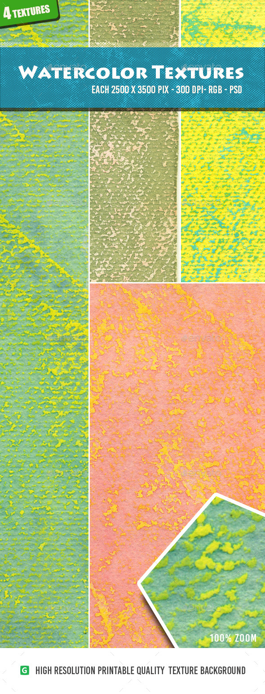Watercolor Textures Pack - Textures