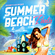 Summer Beach Party Flyer Plus FB Cover - GraphicRiver Item for Sale