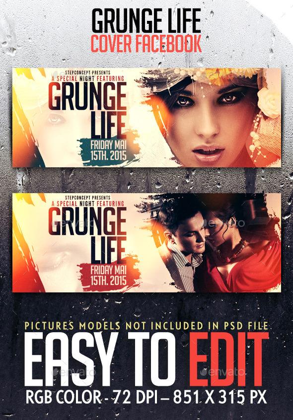 Grunge Life Cover Facebook - Facebook Timeline Covers Social Media
