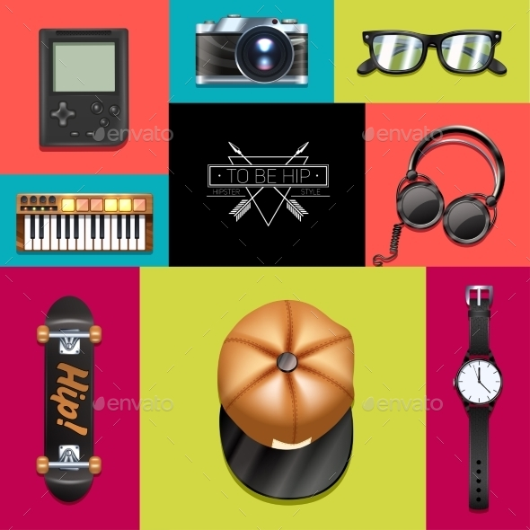 Hipster Design Concept - Man-made Objects Objects