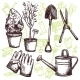 Garden Tools Sketch Concept - GraphicRiver Item for Sale