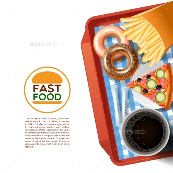 Fast Food Tray Background Poster - Backgrounds Decorative
