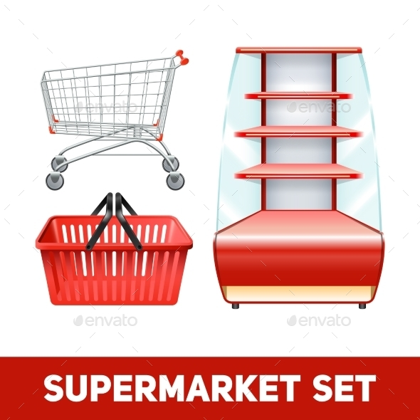 Supermarket Realistic Set - Retail Commercial / Shopping