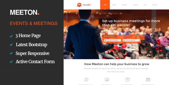 Meeton – Conference & Event HTML Template