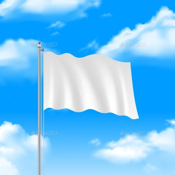 Flag on the Blue Sky - Backgrounds Decorative