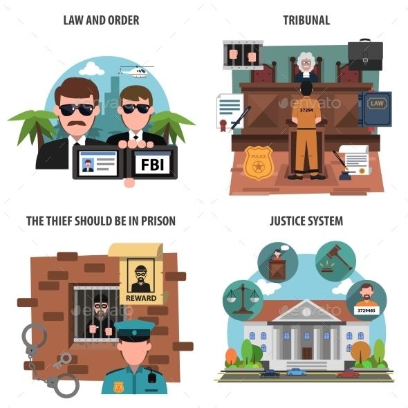 Law Icons Set - Miscellaneous Vectors