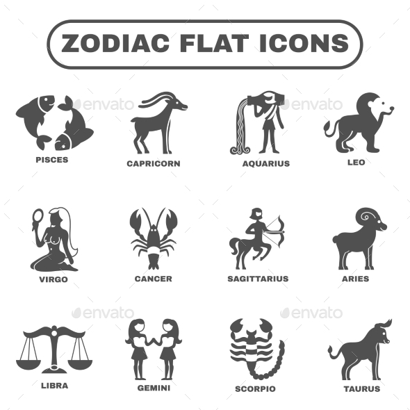 Zodiac Icons Set - Miscellaneous Vectors