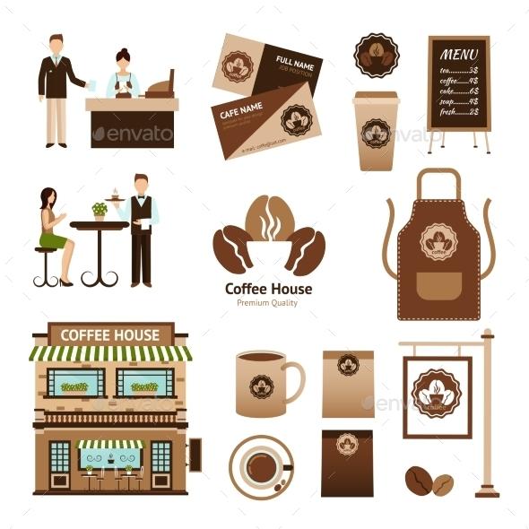 Coffee House Set - Food Objects