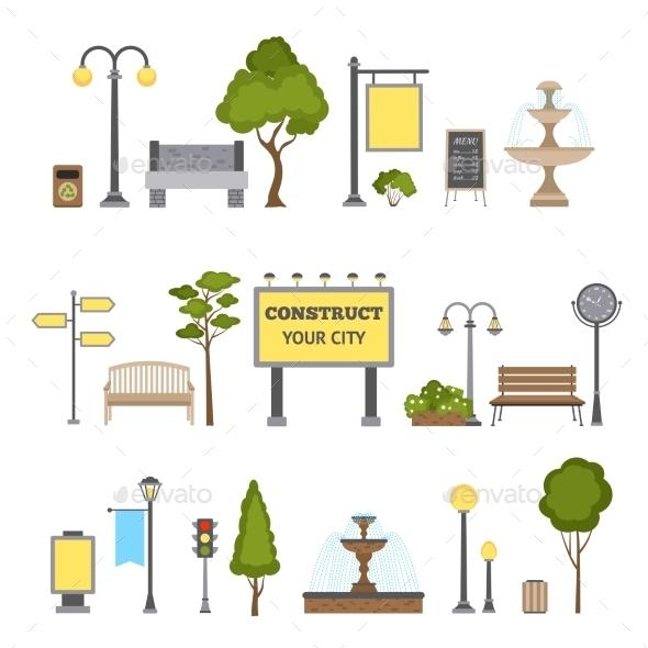 Outdoor Object Set - Miscellaneous Vectors