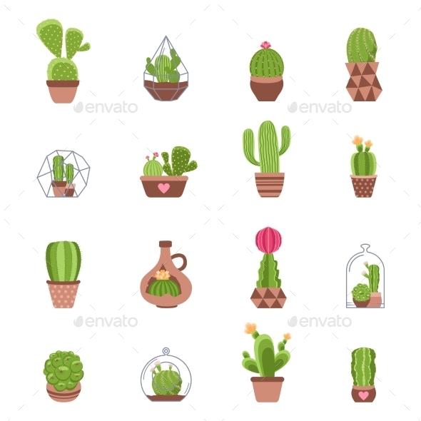 Cactus Icons Set - Miscellaneous Icons