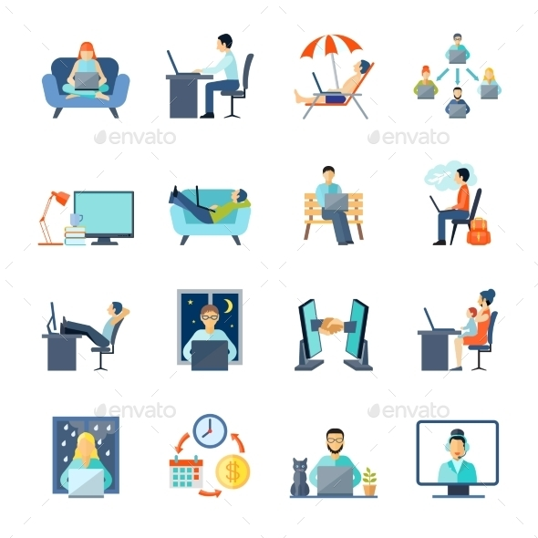 Freelance Icons Set  - People Characters