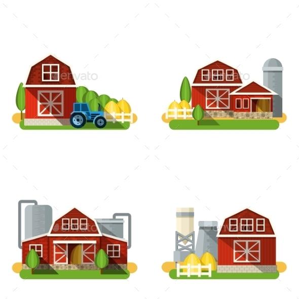 Farm Flat Set - Buildings Objects