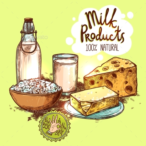 Milk Product Still Life Concept - Food Objects
