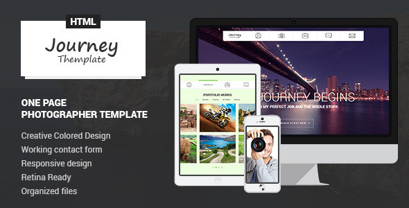 Journey - One Page Photographer Template