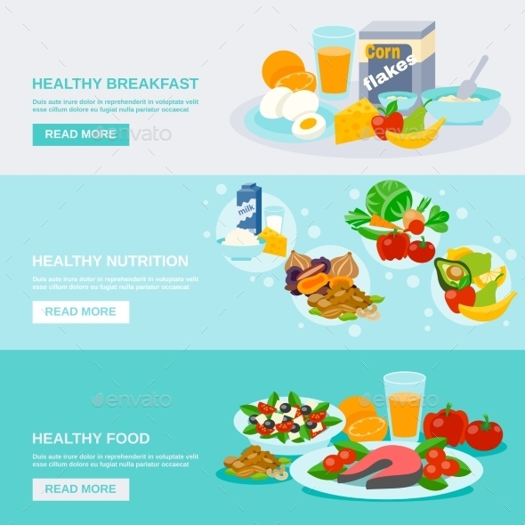 Healthy Food Banner - Food Objects