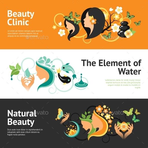 Beauty Banner Set - Miscellaneous Vectors