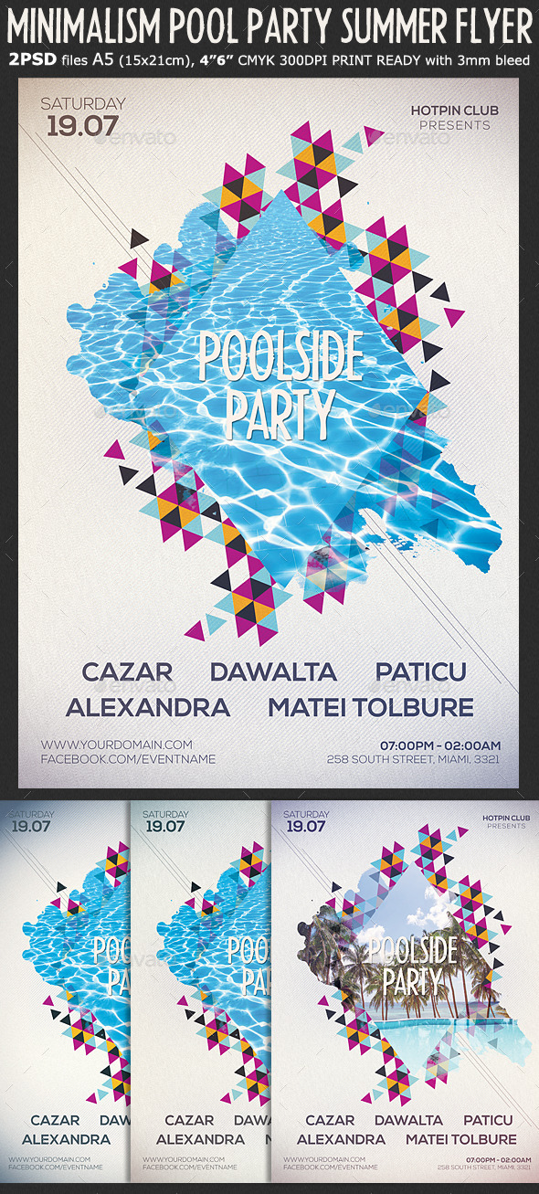 Minimalism Summer Party Flyer Template By Hotpin | Graphicriver