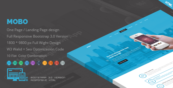 Mobo – One Page App Landing Page