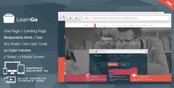 LearnGo – Education Learning Html Landing Page
