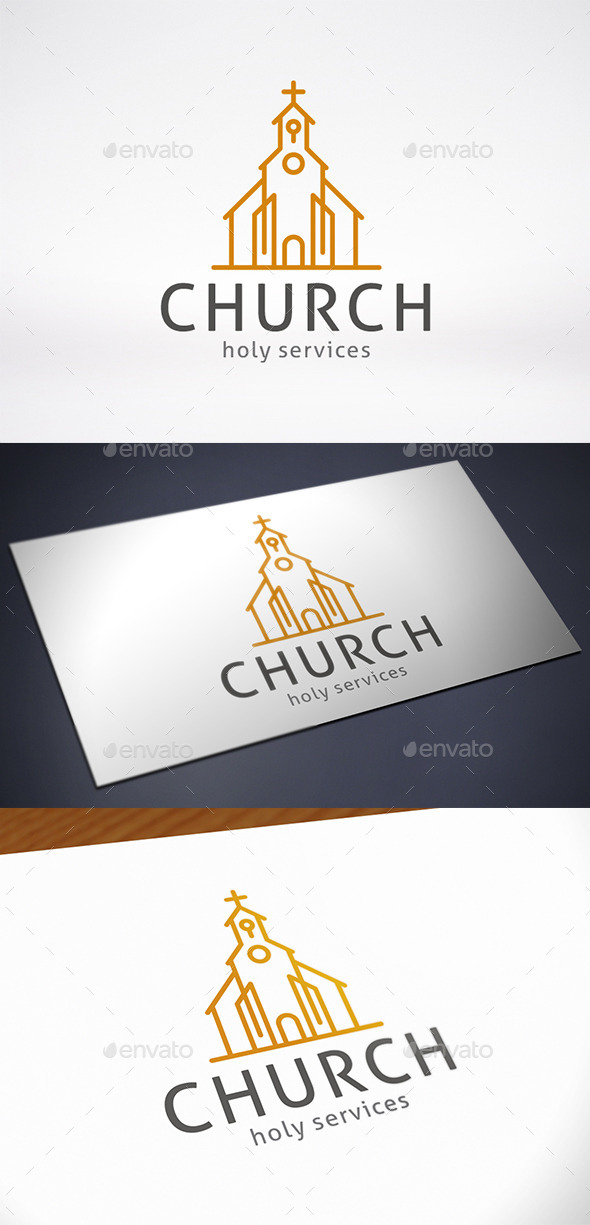 Modern Church Logo Template - Buildings Logo Templates