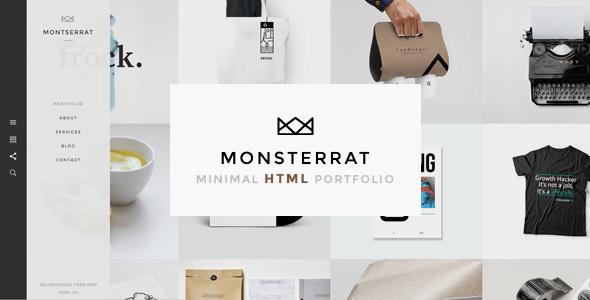 Monsterrat – Minimal HTML Portfolio Template