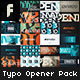 Typo Opener Pack - VideoHive Item for Sale