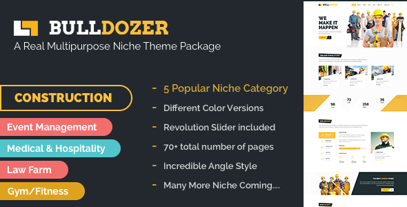 Bulldozer – Mega Package Multipurpose Template