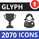 2070 Vector Glyph Icons - GraphicRiver Item for Sale