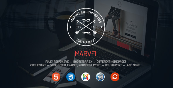 Marvel – Responsive Multipurpose VirtueMart Template