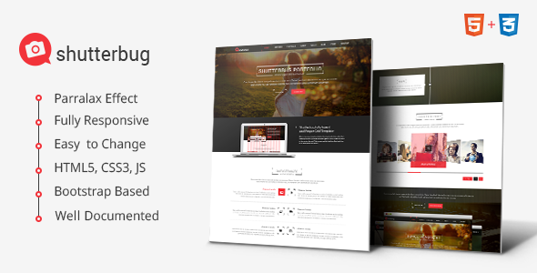 Shutterbug Multipurpose HTML Template - Creative Site Templates