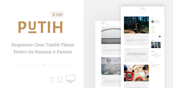 Putih | Clean Personal Tumblr Theme