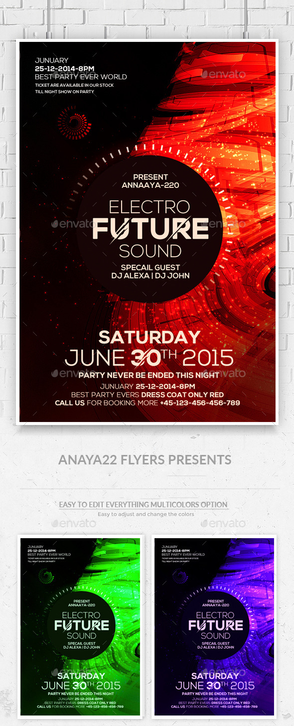 Futuristic Flyer Psd Templates - Clubs & Parties Events