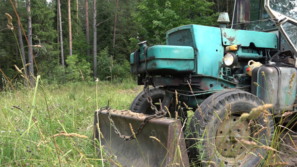 Old Soviet Tractor or Excavator