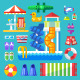 Set The Water Park Visitor - GraphicRiver Item for Sale