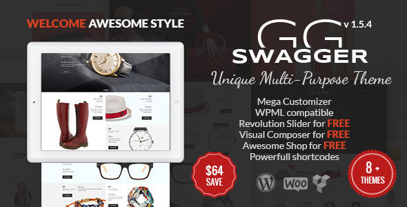 SWAGGER - Unique Multi-Purpose WordPress Theme - WooCommerce eCommerce