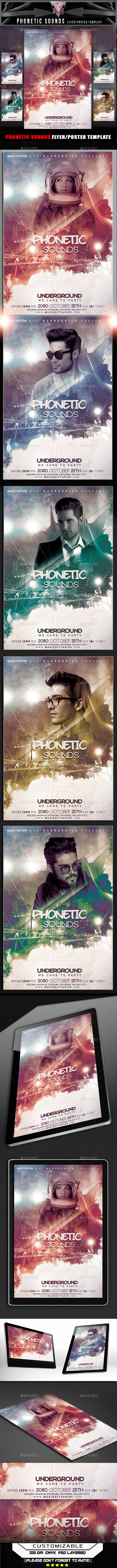 Phonetic Sounds Flyer Template - Flyers Print Templates