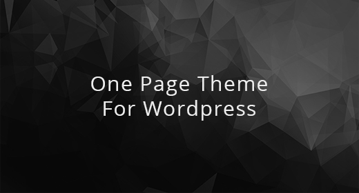 Best One Page theme for Wordpress
