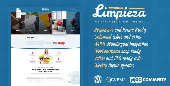 Limpieza Cleaning Company WordPress Theme