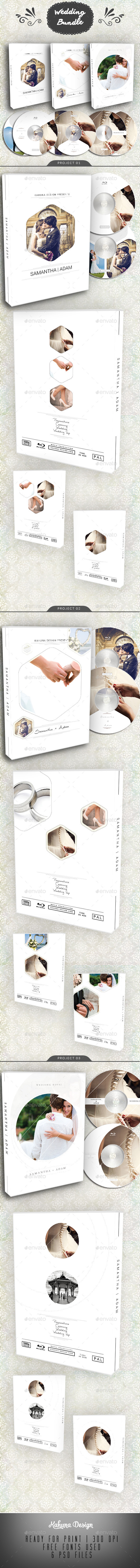 Wedding DVD / Blu-Ray Cover Bundle 2 - CD & DVD Artwork Print Templates