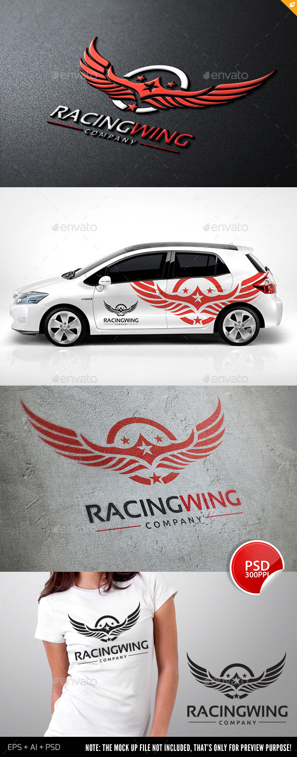 Racing WIng - Crests Logo Templates