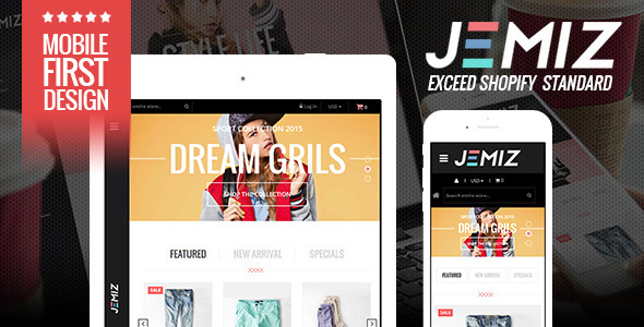 Kids Fashion Store Responsive Shopify Theme - Jemiz - Shopping Shopify