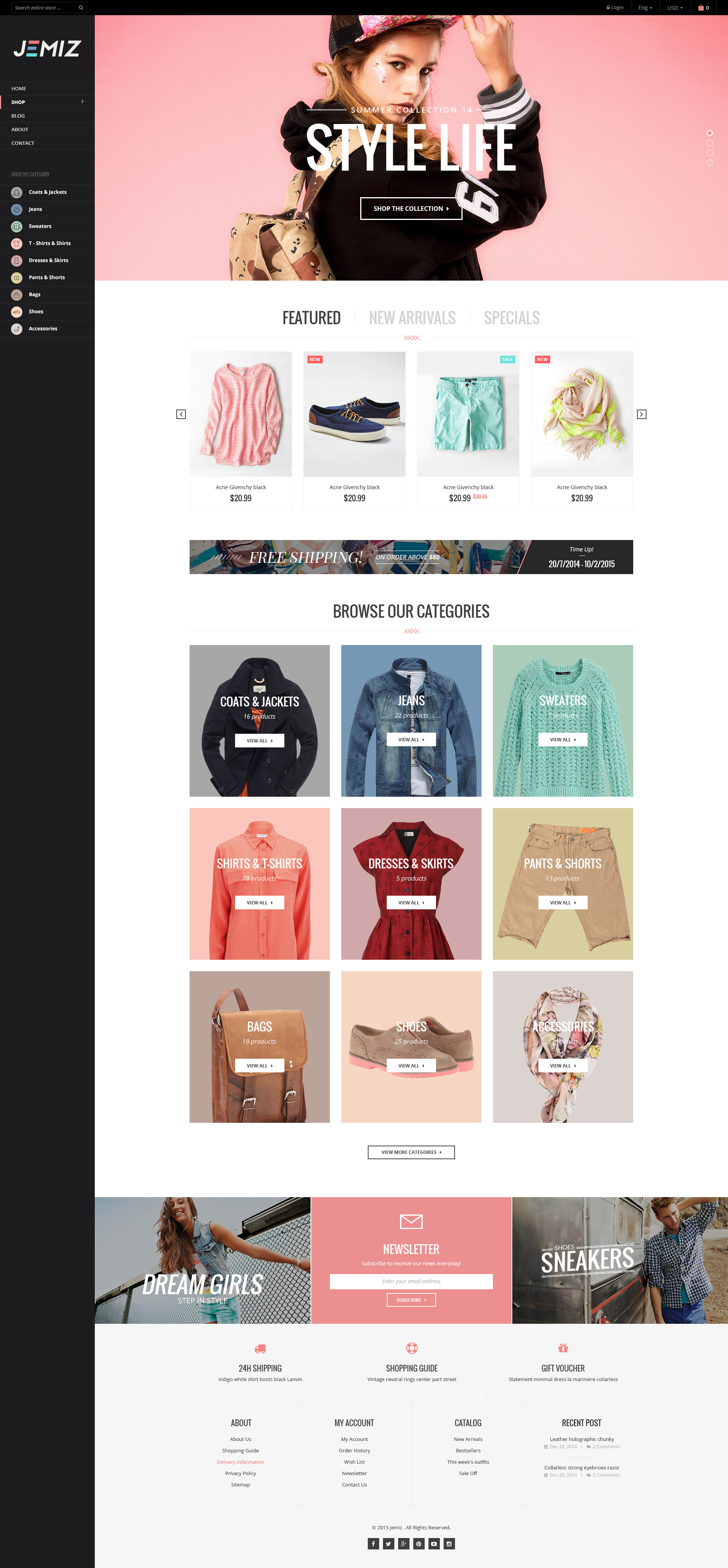 Kids Fashion Store Responsive Shopify Theme Jemiz By Tvlgiao - Shopify store templates