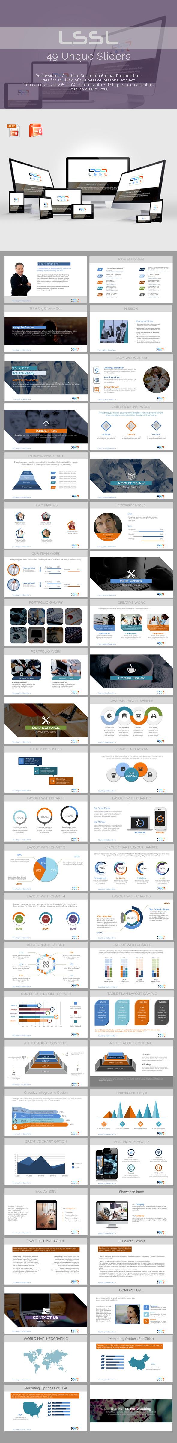 LSSL Powerpoint Presentation Template - Business PowerPoint Templates