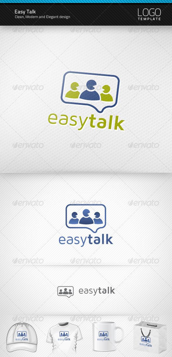 Easy Talk Logo - Humans Logo Templates